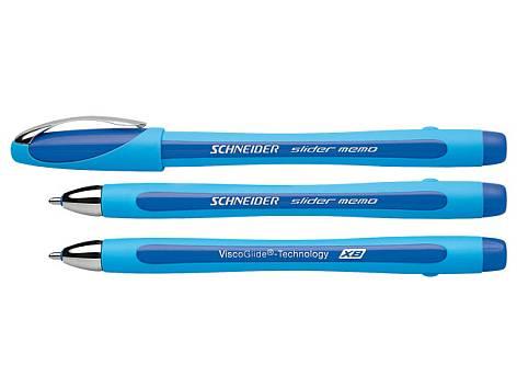 Kugelschreiber Slider Memo Blau Kugelschreiber Und